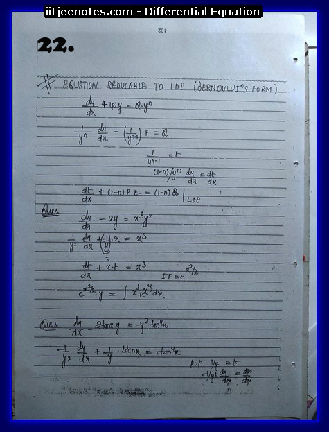 differential equation notes9