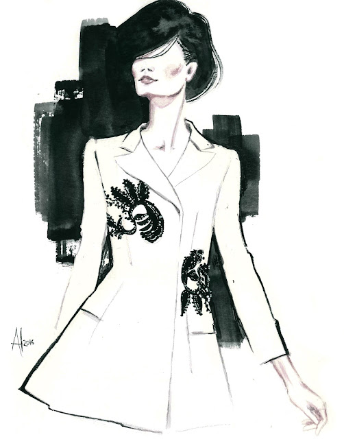 Alessia Landi Fashion illustration - Dior couture Fall 2016