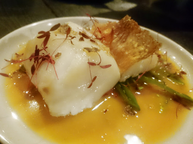 cod with cava and miso sauce - Senor Buddha Brighton