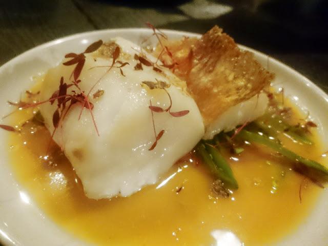cod with cava and miso sauce - Senor Buddha Brighton