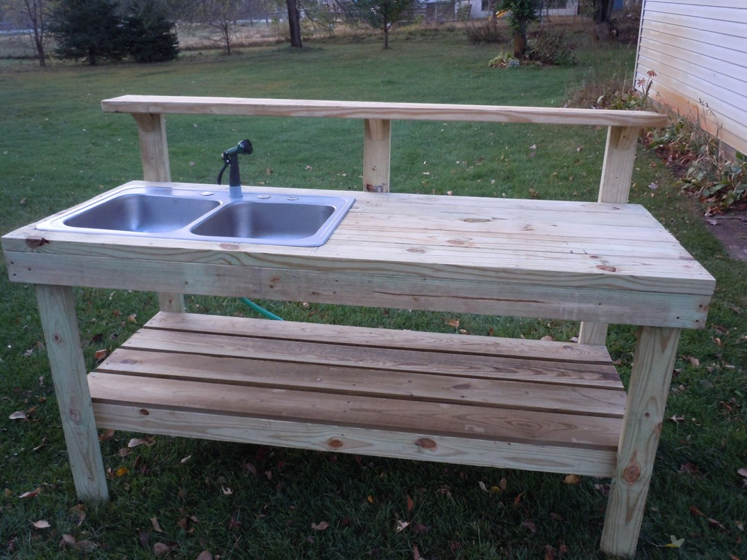 Everything In Between by Kelly & Tiffany: Potting Bench on Outdoor Sink With Stand id=46881