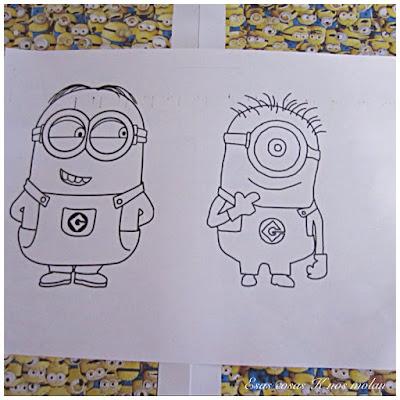 dibujo minions