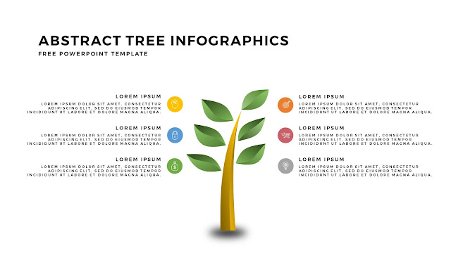 Free Tree Infographics PowerPoint Template with Design Elements Slide 5