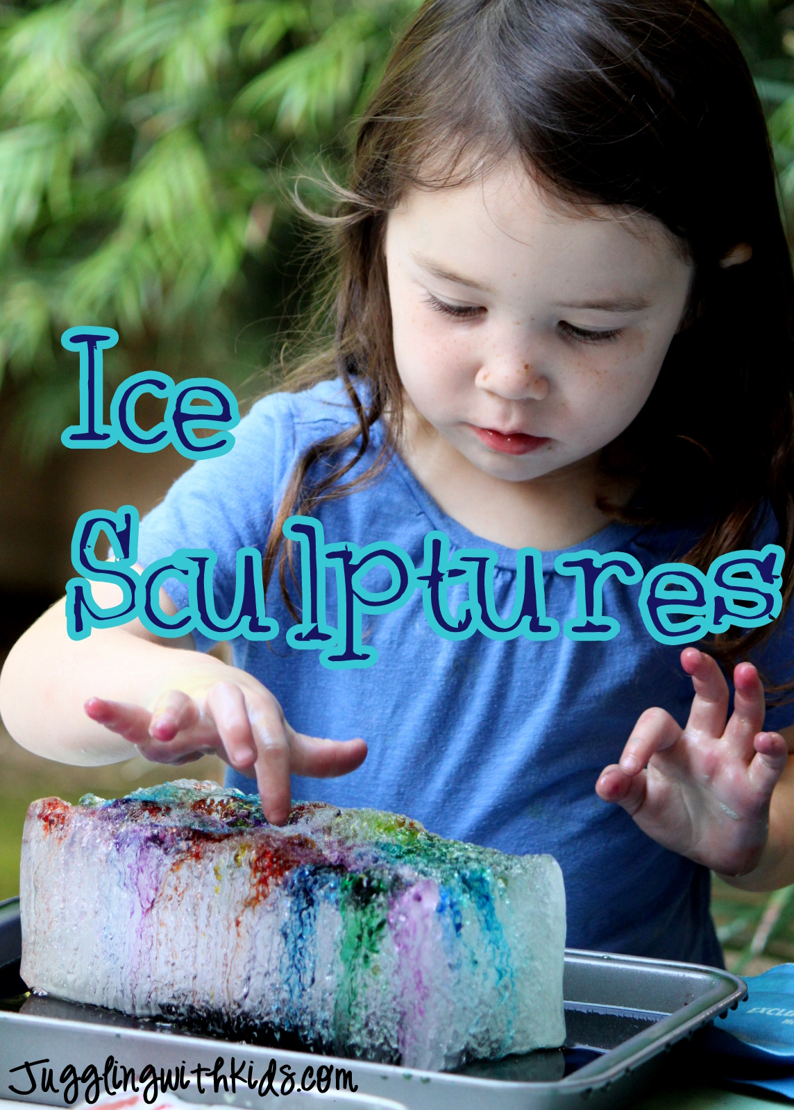 Ice Sculptures Juggling With Kids
