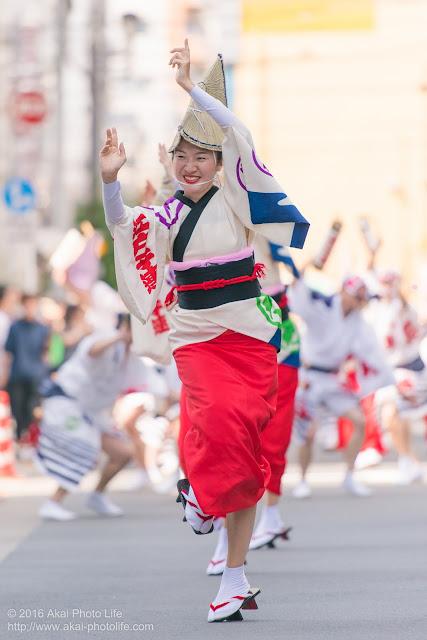 江戸っ子連の女踊り、マロニエ祭りヒューリック浅草橋ビル前、流し踊りの写真 その1