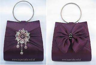 Pesanan customer tas pesta ungu mewah