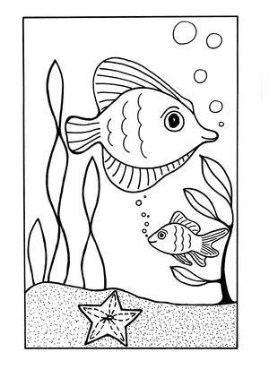Tranh tô màu con cá