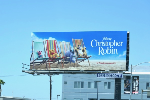 Christopher Robin deckchair billboard