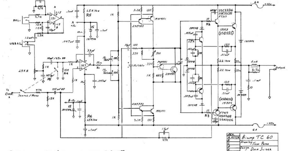 Skema audio power amplifier: Skema ampli