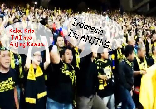 Suporter Malaysia Menghina Indonesia