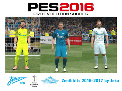 PES 2016 Zenit kits 2016-2017 by Jeka