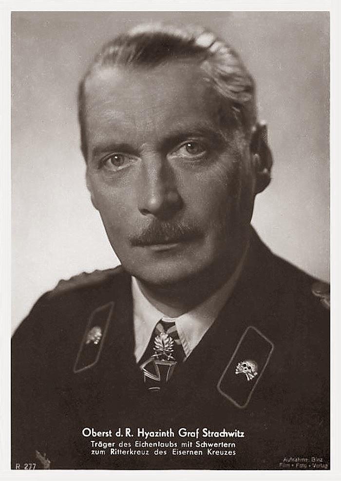 Hyacinth Graf Strachwitz Ritterkreuzträger Knight Cross Holder Postcard