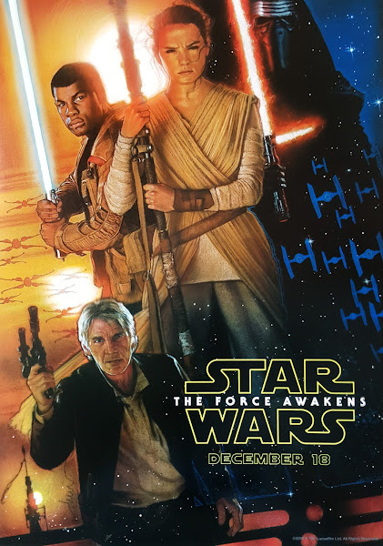 Poster of Star Wars 7 The Force Awakens 2015 720p Hindi BRRip Dual Audio
