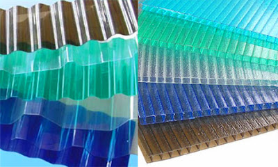 Polycarbonate berbentuk lembaran datar dengan pilihan warna bervariatif dan dijual per ro Apa itu  Genteng Polycarbonate ? Inilah Kelebihan dan Kekurangannya