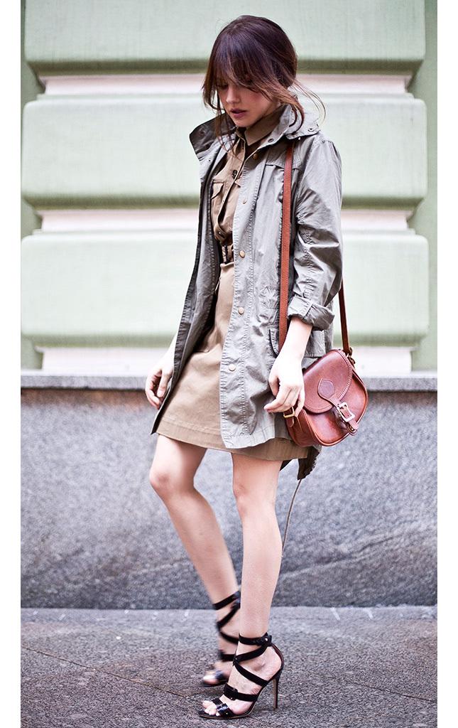 #outfit w stylu militarnym