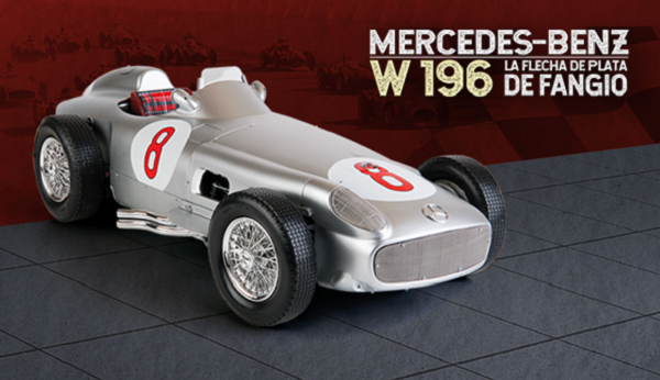 colección de autos a escala del Mercedes Benz W 196 de Fangio para armar