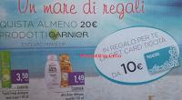 Logo Garnier ti regala le Card Tigotà da 10 euro