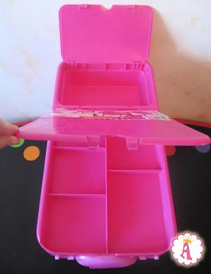 Ящик для хранения барби розового цвета с тремя отделениями Barbie Store It All Pink Case