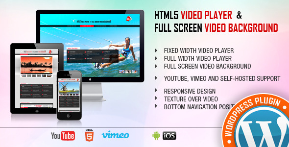 Download Video Player And FullScreen Video Bgd v1.4 WP Plugin