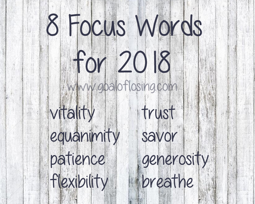 Goal of Losing 8 Focus Words for 2018