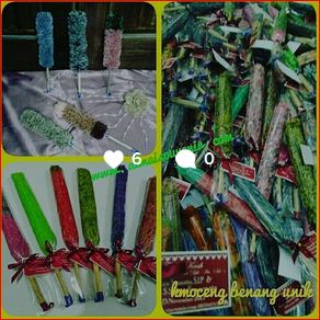 doorgift DIY kemoceng benang