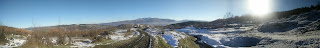 A beautiful panoramic view back down the hill