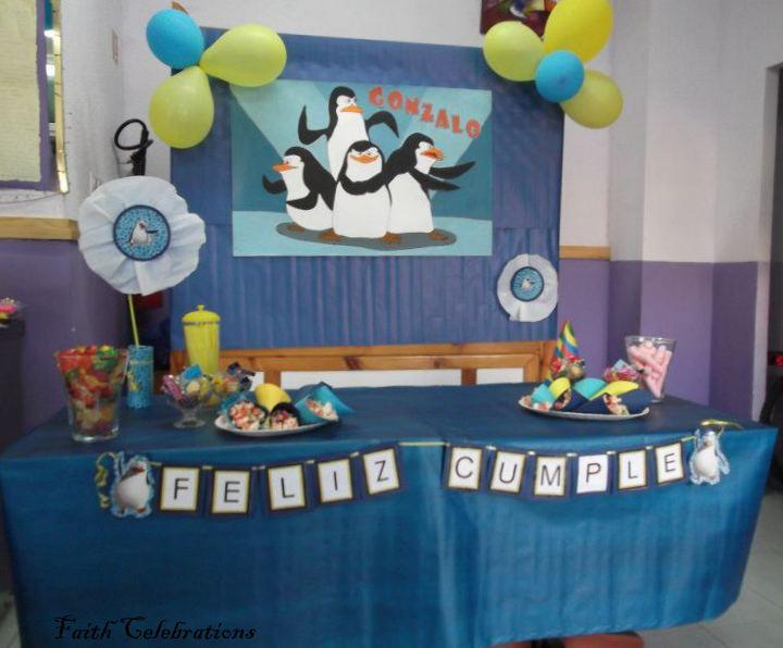 Faith Celebrations Cumpleaños De Los Pinguinos De Madagascar