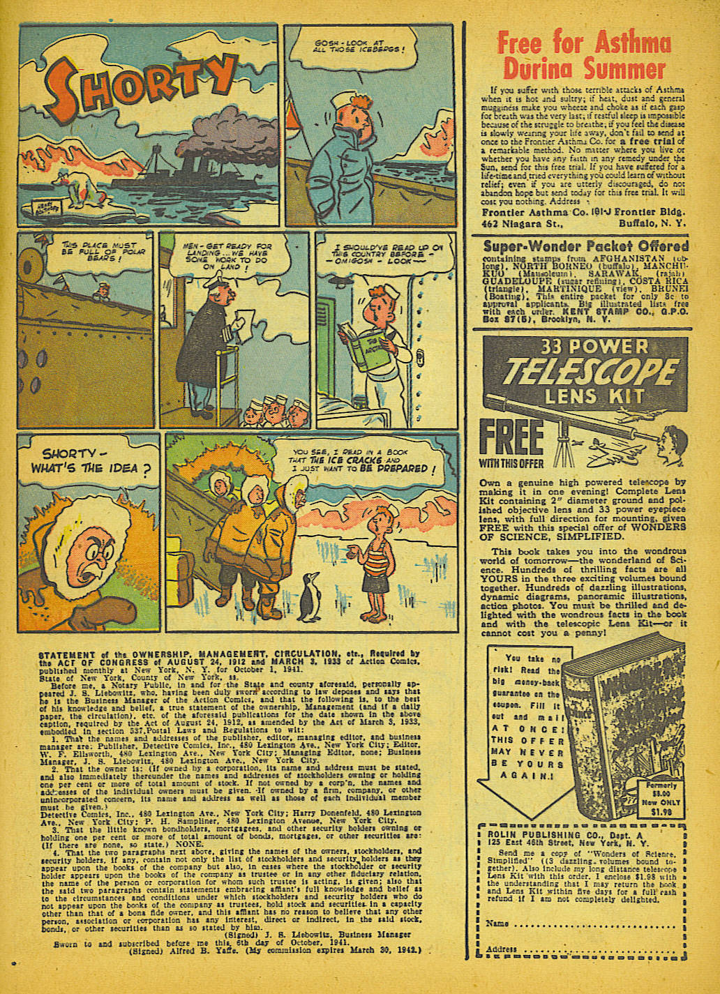 Read online Action Comics (1938) comic -  Issue #51 - 56
