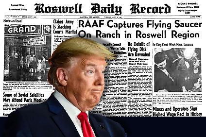 Trump Junior Asks Dad About Aliens and Roswell in Father's Day Interview