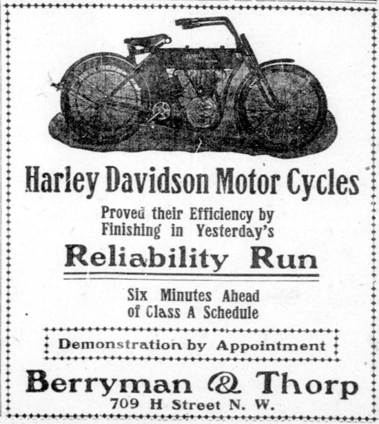 Harley-Davidson advertising May 16, 1909