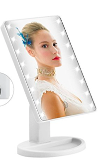 LED Vanity Mirror - 10 things to steal for yourself or to give to others this Christmas. 2017 Christmas gift guide. Amazon wish list Christmas 2017. How to make an Amazon wish list. 10 gift ideas for college age students. Last minute gift ideas | brazenandbrunette.com