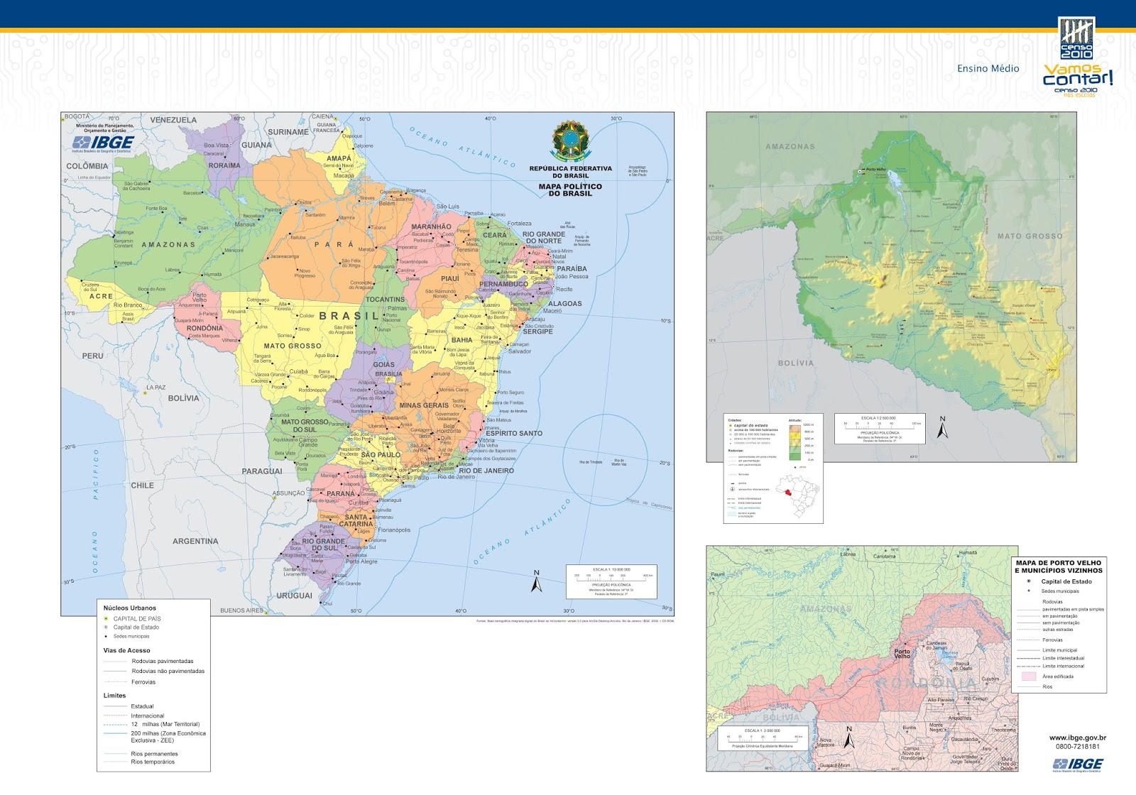 População de Rondônia e de Seus Municípios | 2018