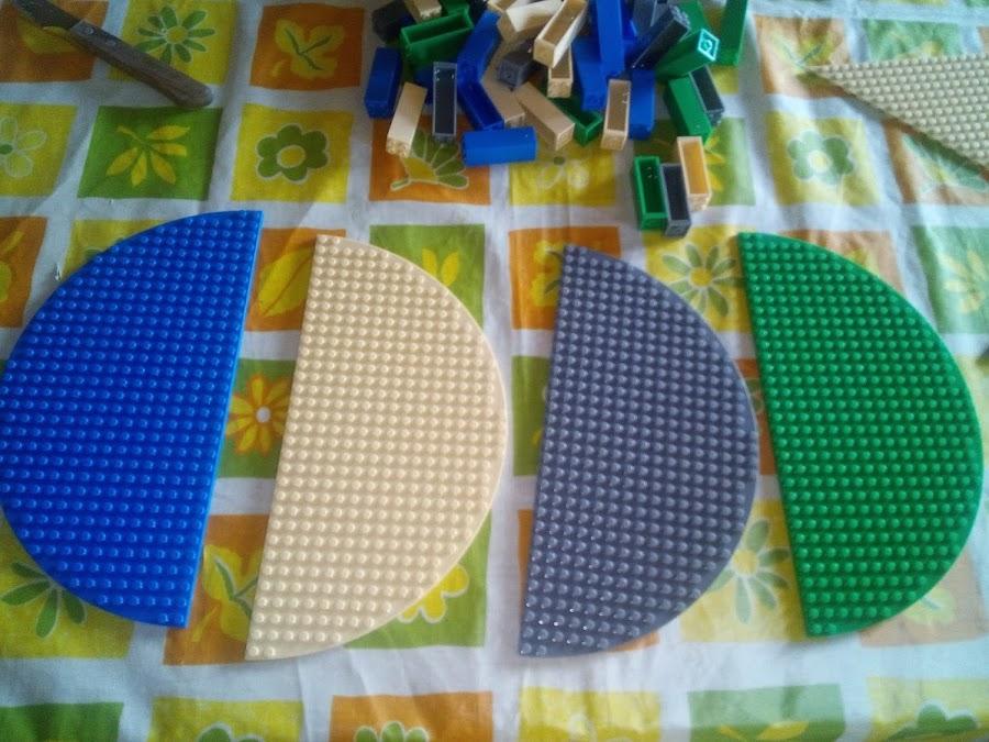 Bases semicirculo lego