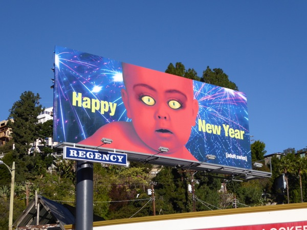 Happy New Year Adult Swim billboard