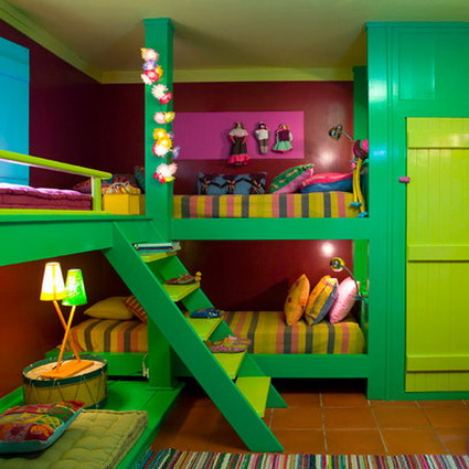 10 shared children's bedrooms with lots of color 5
