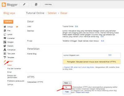 Ganti Url Blogspot dari  HTTP menjadi HTTPS