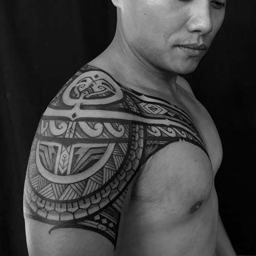 maori tribal dövmeler omuz shoulder tattoos