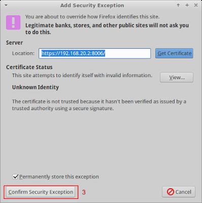 Buka browser pada client lalu akses ip proxmox dengan port 8006, ingat ip proxmox menggunakan ssl maka anda harus menulis seperti ini https://ip-proxmox:8006 dan akan muncul tampilan seperti dibawah ini jangan panik
