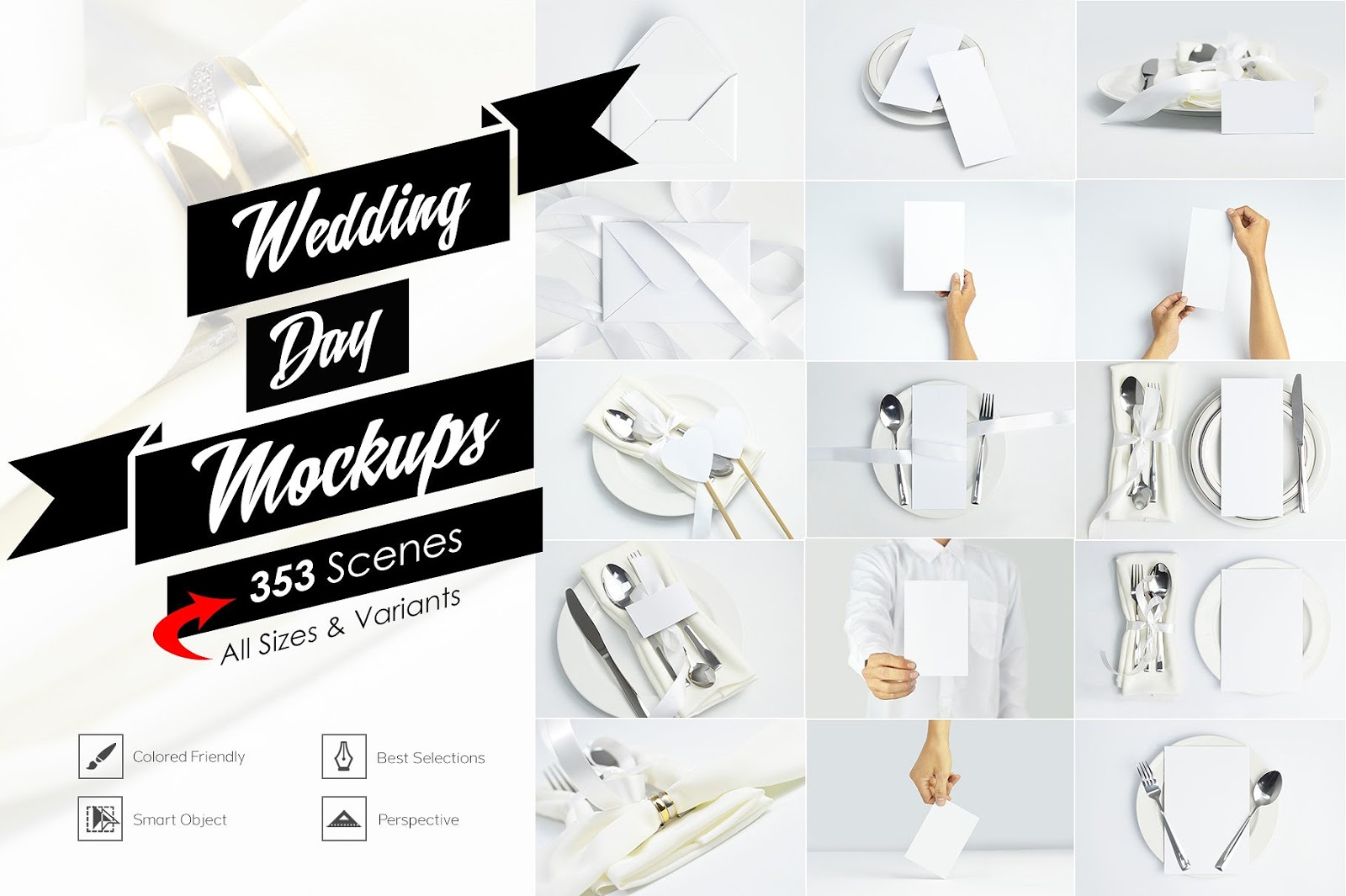 Wedding Day Full Pack Mockups