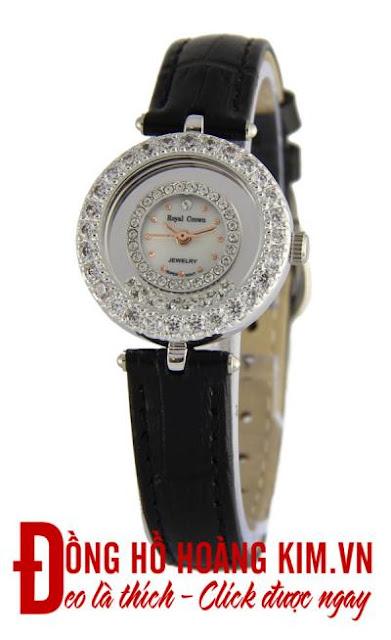 Đồng hồ nữ dây da mặt tròn - 05