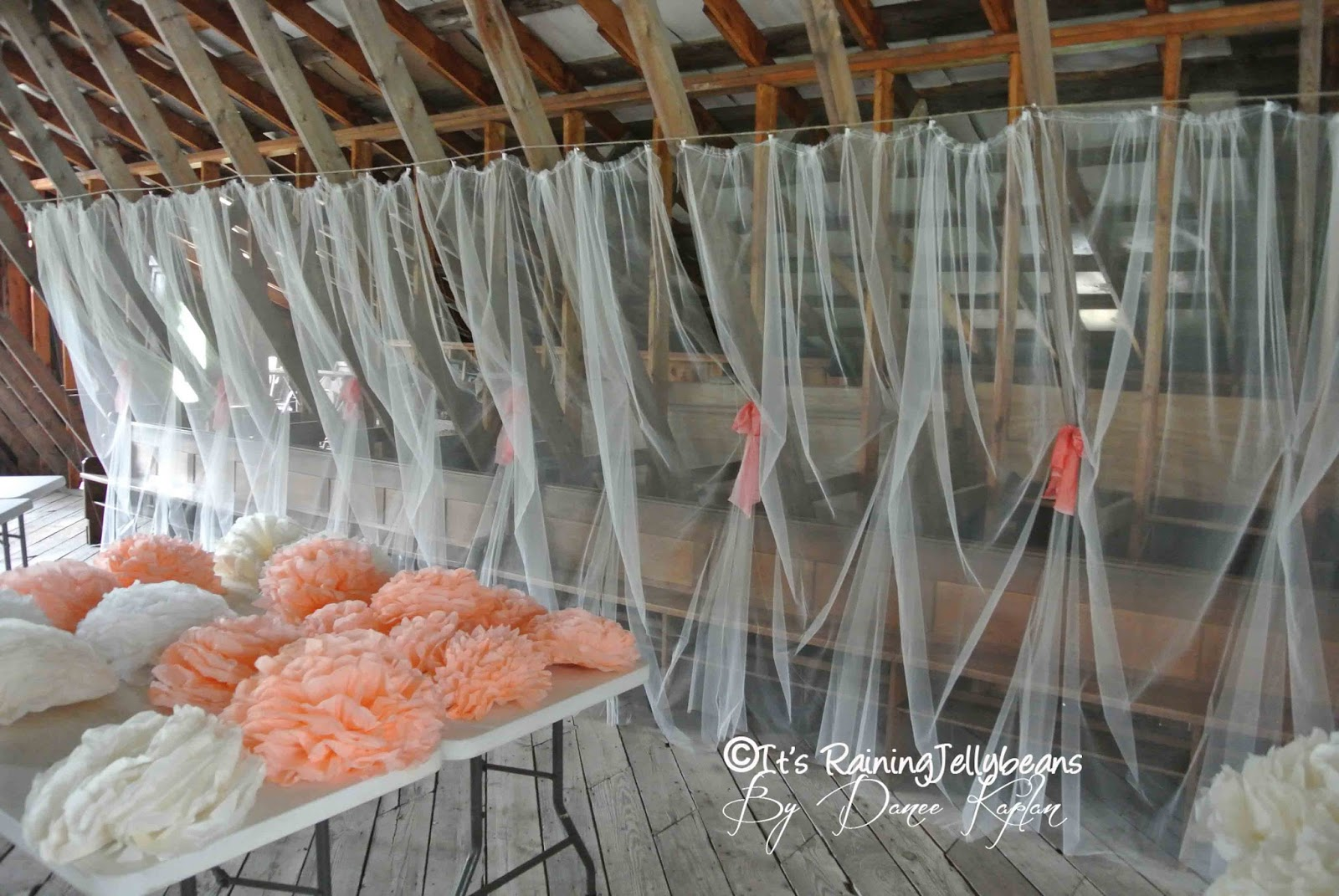 Uncategorized How To Decorate With Tulle its raining jellybeans wedding tulle wall tutorial after the entire was in place we still had a few panels left i used 2 of wider 108 for altar rest to help fr