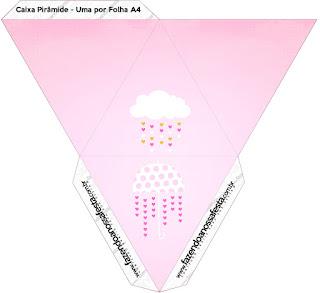 Caja con forma de pirámide de Lluvia de Bendiciones para Nena.