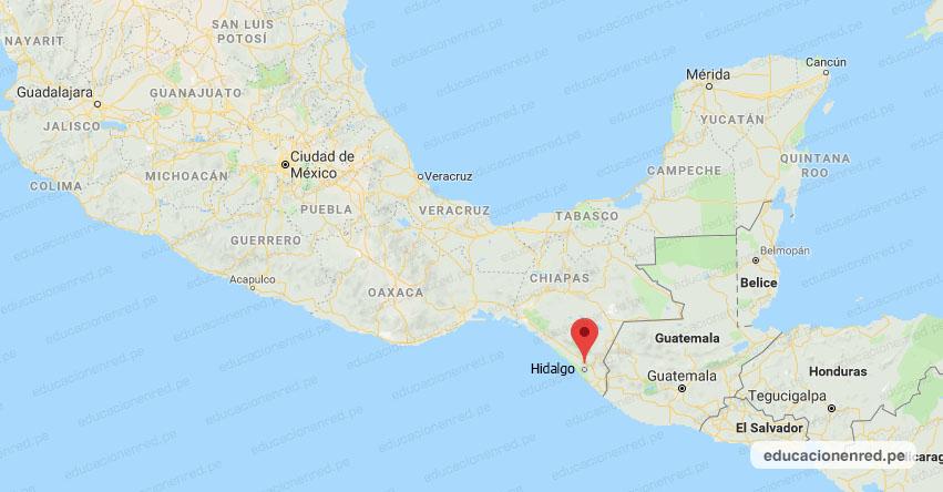 Temblor en México de Magnitud 4.1 (Hoy Lunes 25 Noviembre 2019) Sismo - Epicentro - CD. Hidalgo - Chiapas - CHIS. - SSN - www.ssn.unam.mx