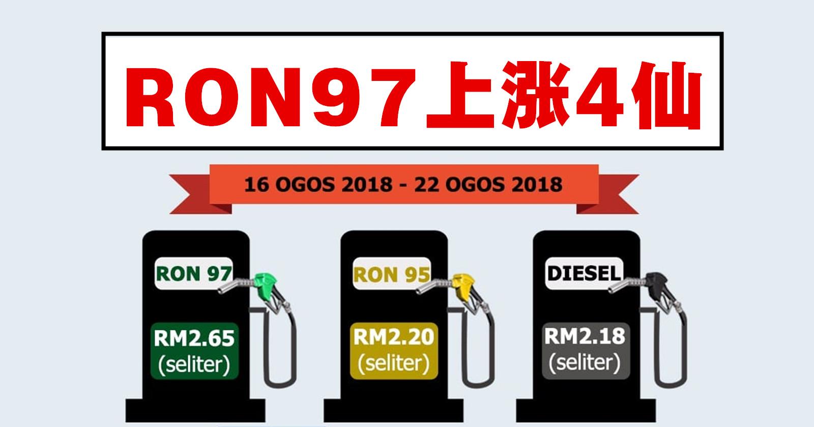 RON97汽油最新售价
