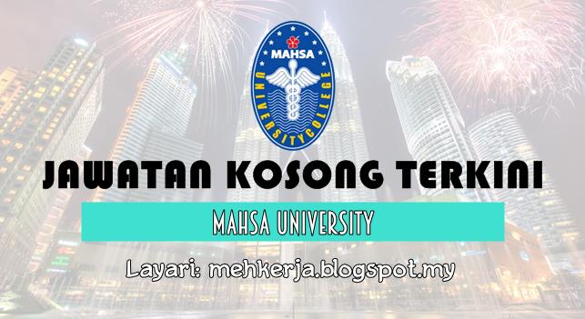 Jawatan Kosong Terkini 2016 di MAHSA University