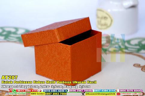 Kotak Perhiasan Kubus Motif Emboss Ukuran Kecil