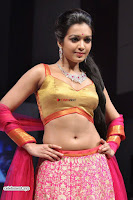 Catherine Tressa in Golden Choli Pink Ghagra ~  Exclusive 002.jpg