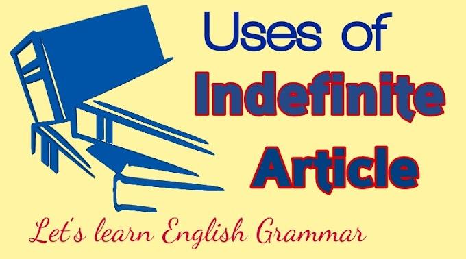 Indefinite Article Usages
