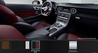 Nội thất Mercedes AMG SLC 43 2019 màu Đen/Đỏ Bengal 867