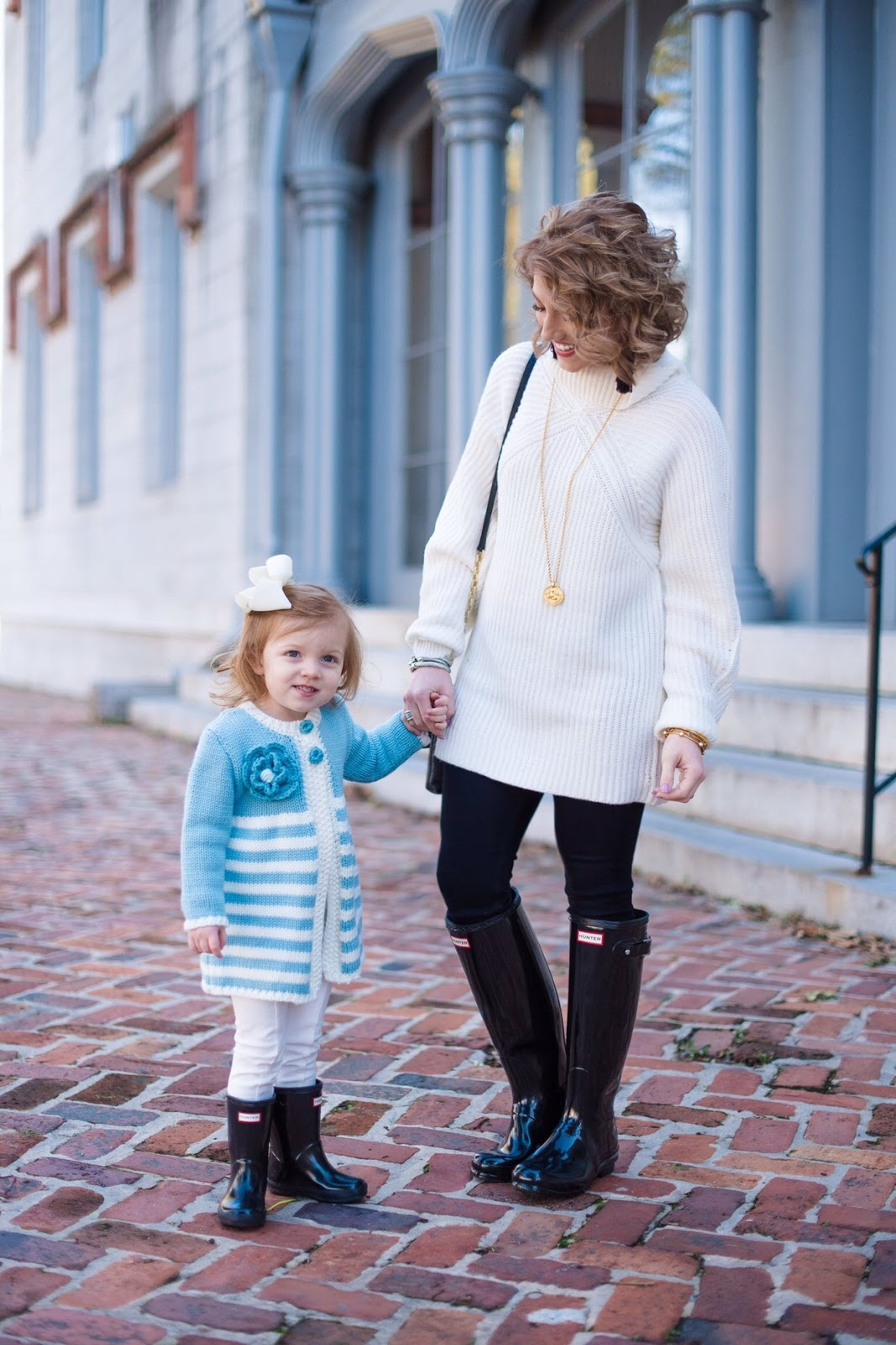 Mommy and me winter look - Something Delightful Blog